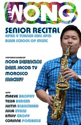 """""""Spring '16 WONG"""" Alan Wong senior recital poster Clark Hubbard, 2016"""