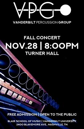 """Fall '17VPG-01"" VPG fall concert poster Clark Hubbard, 2017"