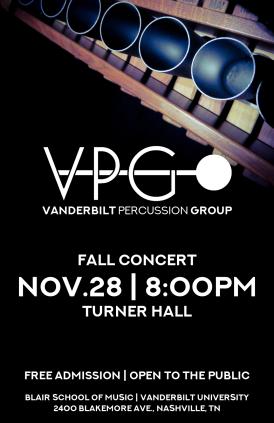"""Fall '17VPG-02"" VPG fall concert poster Clark Hubbard, 2017"