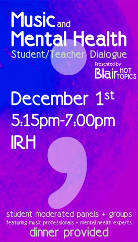 """""""Fall '17 HOT TOPICS-02"""" Blair Hot Topics Poster"""