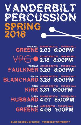 """""""Spring '18 VPG-S BLUE"""" VPG Studio Events Spring 2018 Clark Hubbard, 2018"""