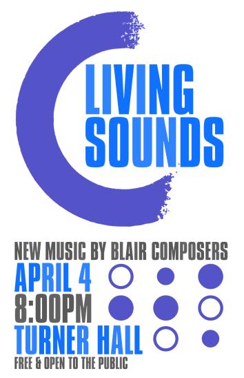 """Spring '18SOUNDS"" Living Sounds Spring 2018 poster Clark Hubbard, 2018"