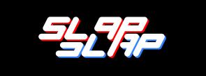 """Slap Slap Logo - RED/BLUE"" design credit: Clark Hubbard (2018)"