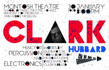 """MM1 '20CLARK"" Clark Hubbard MM1 recital poster Clark Hubbard, 2020"